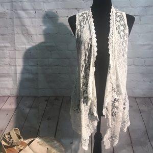 Lace boho vest